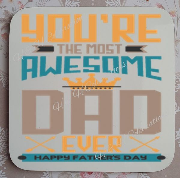 Father's Day Coaster Design 4